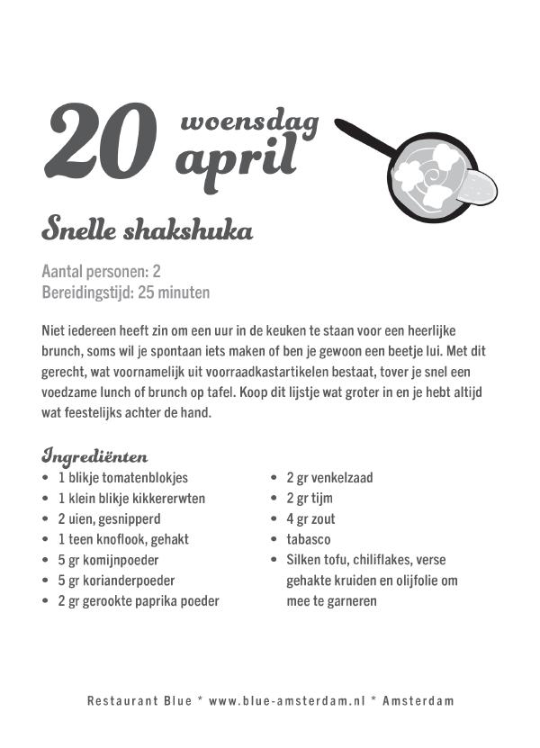 Recept uit scheurkalender Lekker Plantaardig